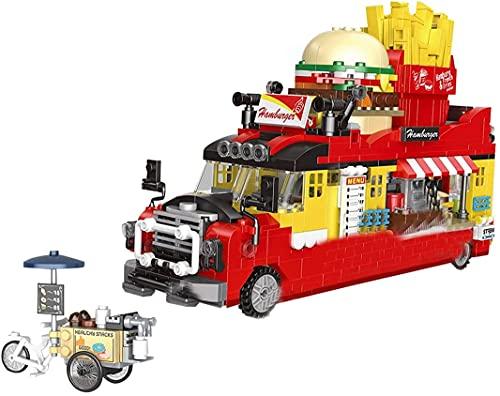 Nuoyazou 778+Pcs Hotdog Speisewagen Fahrzeug Stadthaus Kreative...