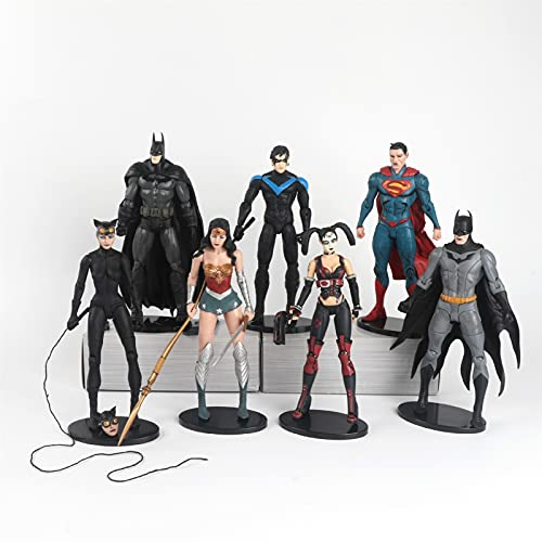YINGYINGSM 7 Teile/los 18 cm Justice Liga Superman Batman Wunder Frau...