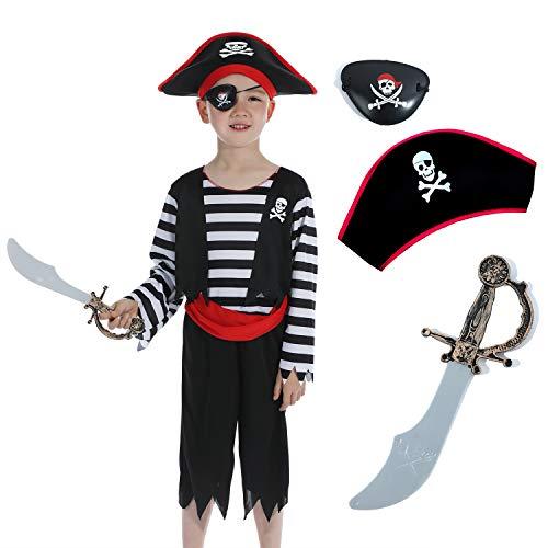 Sincere Party Kinder Piratenjungen Kostüm mit Hut, Schwert,...