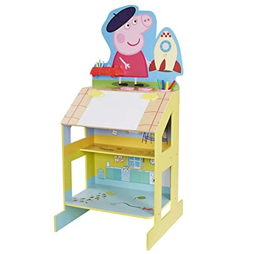 PEPPA PIG Holz-Staffelei zum Spielen und Zeichnen.