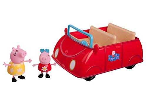 Jazwares 92605 - Peppa Wutz Peppa's rotes Auto, Cabrio mit Melodie und...