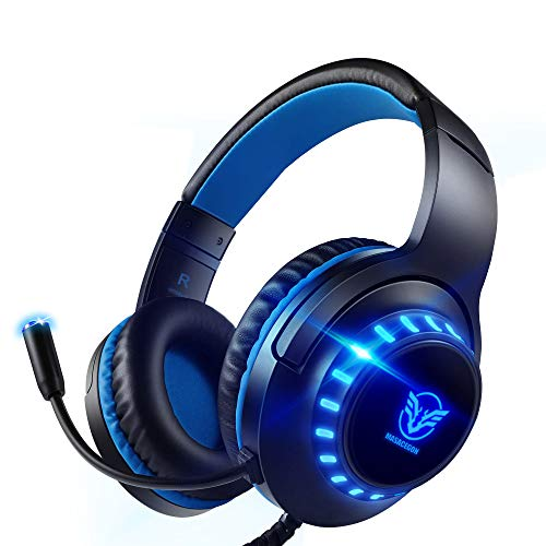 Pacrate PC Gaming Headset für PS4 Xbox One PS5, PS4 Headset mit...