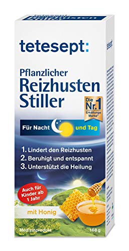 tetesept Pflanzlicher Reizhusten Stiller - Hustensaft mit Honig & Isländisch Moos lindert den Reizhusten -...