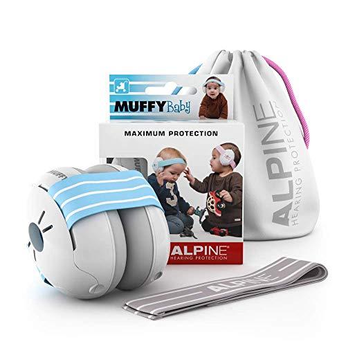 Alpine Muffy Baby Kapselgehörschützer Gehörschutz für Babys und Kleinkinder bis 36 Monate - Lärmschutz...
