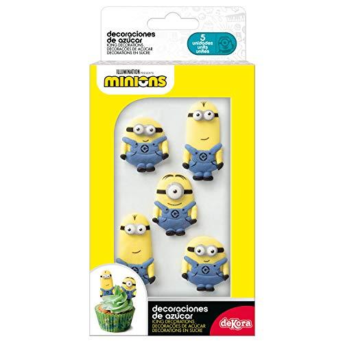 dekora Minions Cupcake und Tortendeko Essbar | 5 Mini Icing...