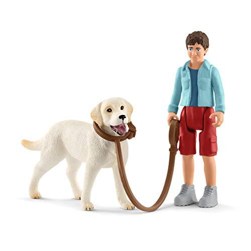 Schleich 42478 Farm World Spielset - Spaziergang mit Labrador...