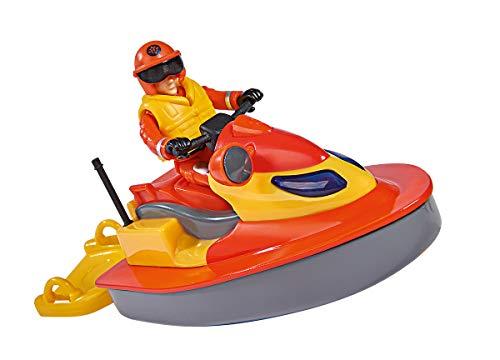 Simba 109251048 - Feuerwehrmann Sam Juno Jet Ski, mit Elvis Figur,...