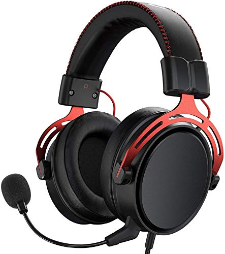 MPWPQ PS4 Headset Xbox EIN, Air SE Gaming Headset mit Mikrofon, Over-Ear Gaming-Kopfhörer mit...