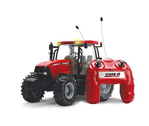 TOMY Britains Traktor 'RC Case IH 140 Big Farm' in rot - ferngesteuerter Traktor aus Kunststoff mit...
