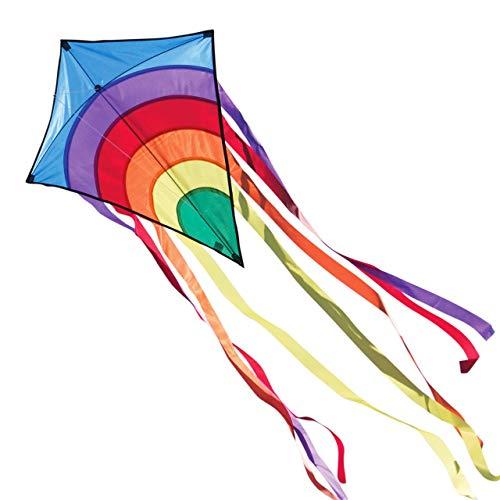 CIM Kinder-Drachen - Rainbow Eddy BLUE - Einleiner-Flugdrachen für...