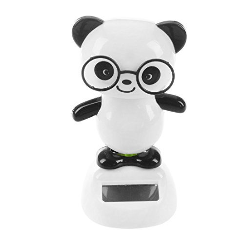Fauge Solar Power Tanzende Figuren Panda, Neuheit Schreibtisch Auto Spielzeug Ornament