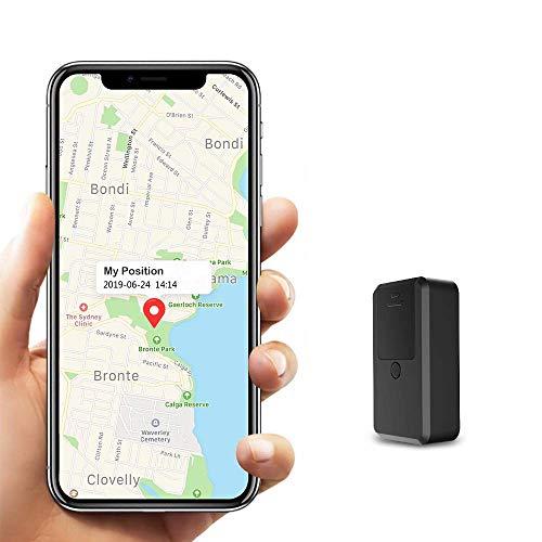 Mini GPS Tracker, Kimfly Magnet GPS Tracker mit Free App GPS Locator Anti-Thief Echtzeit GPS Tracking für...
