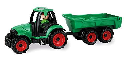 Lena 1625 Truckies Traktor mit Anhänger, stabiles Traktorset ca. 38...