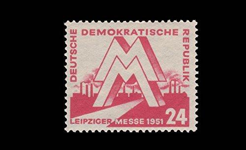 philaseum Briefmarken DDR 1951, Mi.Nr. 282, Frühjahrsmesse,...