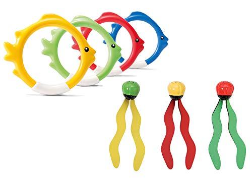 Intex Tauchspielzeug Set Tauchbälle + Tauchringe...