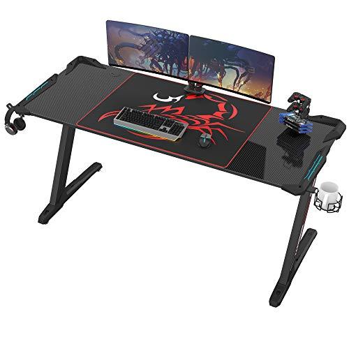 EUREKA ERGONOMIC Gaming Tisch Groß Z60 Gamer Tisch mit...