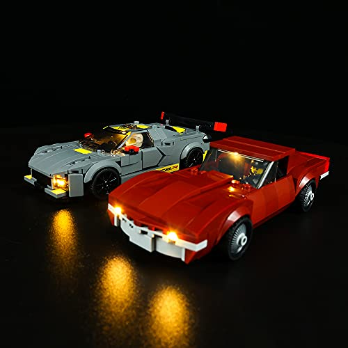 QXQY Led Beleuchtungsset für Lego 76903 Chevrolet Corvette C8.R und...