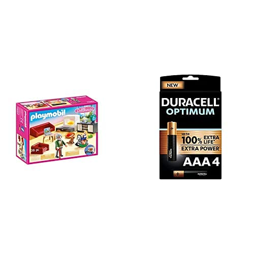 PLAYMOBIL Dollhouse 70207 Gemütliches Wohnzimmer, mit Lichteffekt, ab...