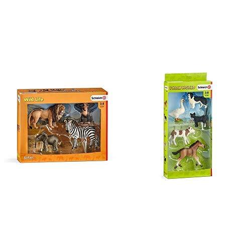 Schleich 42387 - Wild Life Starter-Set & 42386 - Farm Word Tier-Mix -...