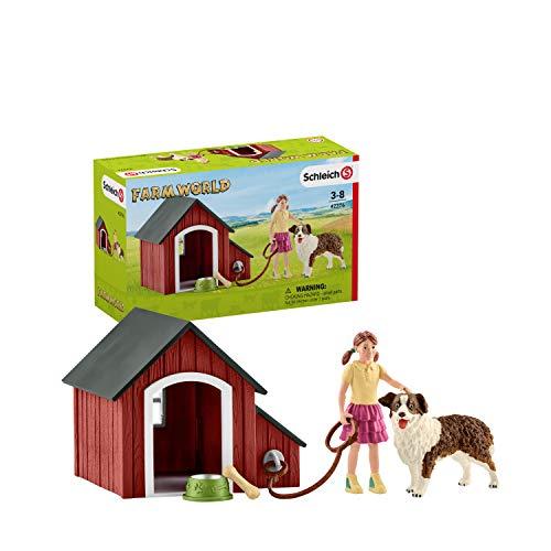 Schleich 42376 Farm World Spielset - Hundehütte, Spielzeug ab 3...