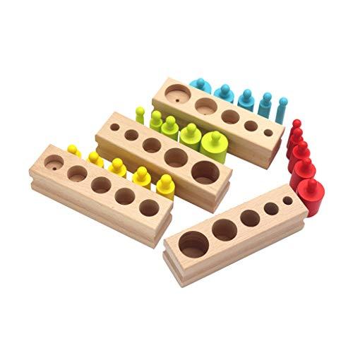 MYBOON Baby Holz Steckdose Zylinder Set Montessori Früherziehung...