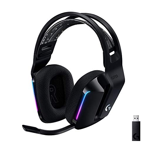 Logitech G733 LIGHTSPEED kabelloses Gaming-Headset mit Kopfbügel,...