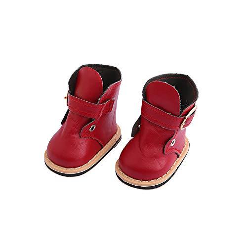Hink süße modische Stiefel für 45,7 cm große Puppen, Zubehör für Mädchen, Spielzeug und Hobby, Rot