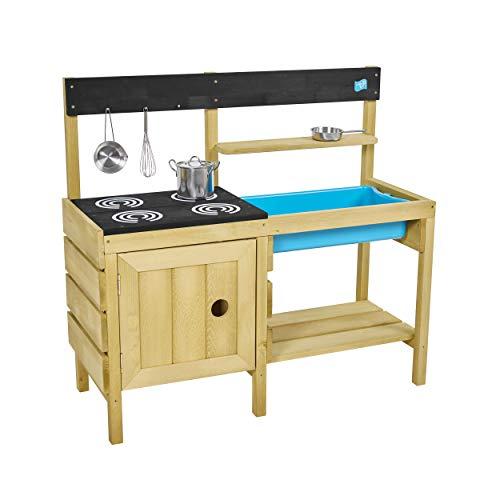 TP Toys TP611 Wooden Mud Kitchen Junior Chef Holzschlamm Küche, holzfarben