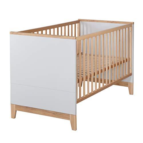 """roba Kombi-Kinderbett """"Tobi"""", höhenverstellbares, mitwachsendes Babybett mit 3 Schlupfsprossen und einer..."""
