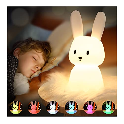 SOLIDEE Bunny Silikon Nachtlicht Kinder USB-Aufladung Nachttischlampe...