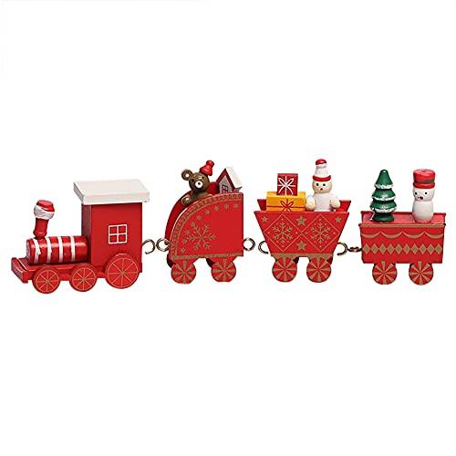 Joycabin Nette Holz Weihnachtszug Spielzeug mit 3 Autos Luxus Zug Set...