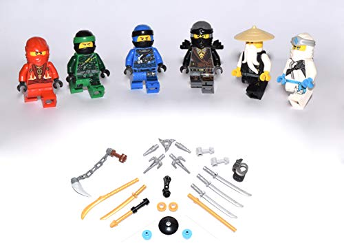 Lego Ninjago Figuren Alle 5 Ninja und Meister Wu ( Grüner Ninja...