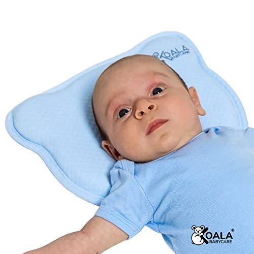 DAS ORIGINAL Koala Babycare® - Orthopädisches Babykissen gegen Plattkopf mit zwei Bezügen zur Heilung und...