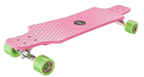 HUDORA Skateboards Longboard Fun Cruiser, pink - ABEC 7 - Skateboard - 12712