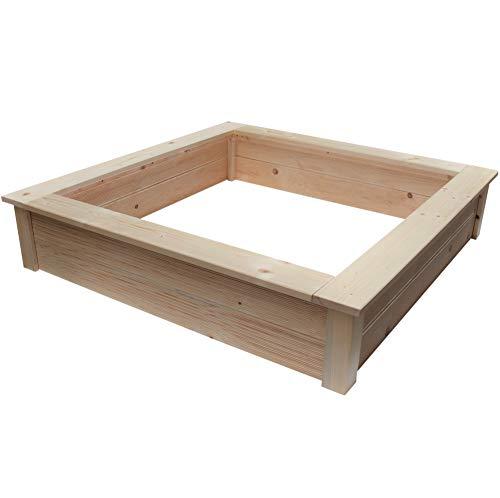 Clamaro 'Beach' Holz Sandkasten 150 x 150 cm extra stabil aus Fichte...