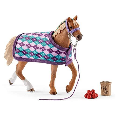 SCHLEICH- Figur Pur-Sang Englisch mit Decke Horse Club,...