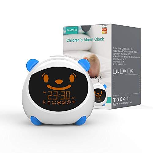 MoesGo Kinder Wecker und Smart Schlaf Study Trainer mit Nachtlichter...