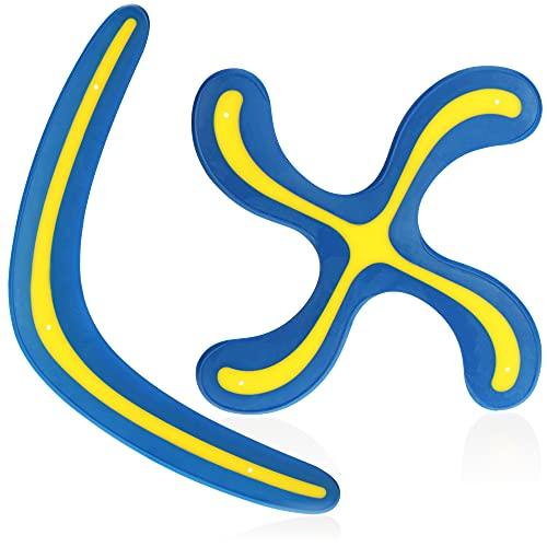 com-four® 2X Bumerang - Wurf-Spielzeug für Kinder und Erwachsene -...