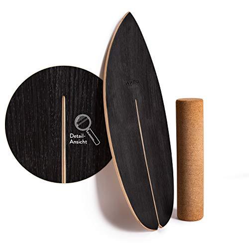 WAHU-Balanceboard (Schwarz) - Trickboard mit...