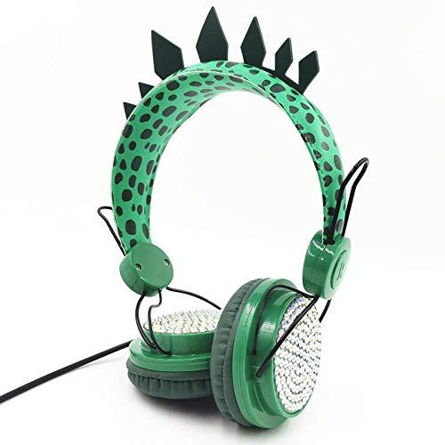 XIANWEI Dinosaurs 3D 3,5 mm Stereo-Headset Kabel-Headset mit Mikrofon-Headset Lernspiel für Kinder Spiel