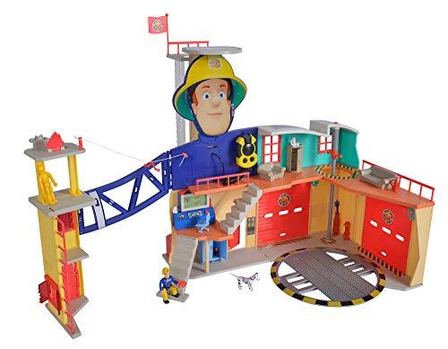 Simba 109251059 - Feuerwehrmann Sam MegaFeuerwehrstation XXL große...