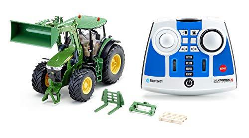 siku 6795, John Deere 7310R Traktor mit Frontlader, Grün,...