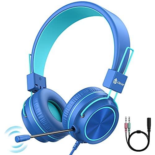 iClever Kinder Kopfhörer mit Mikrofon,Stereo Gaming Headset,360°...