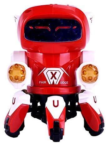 DINEGG Elektro-Tanzen Six-Greifer-Roboter-Spielzeug-Licht-Musik-Roboter-Modell-Spielzeug Tanzen...