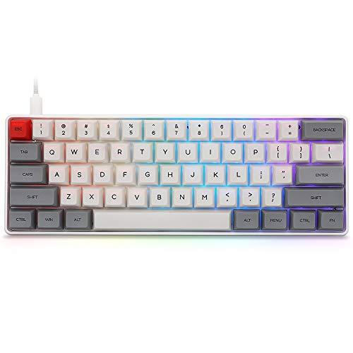 SK61 mechanische Gaming-Tastatur mit 60 % Tasten, NKRO Gateron...