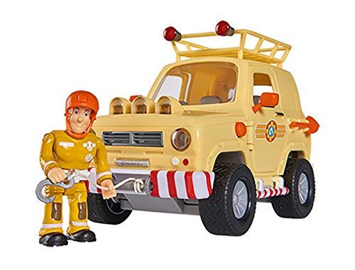 Simba 109251072 - Feuerwehrmann Sam 4x4 Geländewagen, mit Sam Figur,...