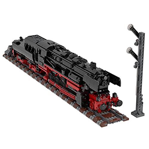 Myste Technik Zug, MOC-25554, 2541 Teile Deutsche Dampflokomotive...