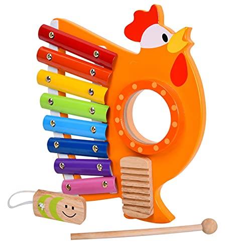 Gusengo Holz Xylophon Spielzeug, Holz Xylophon Für Kinder - Kinder...