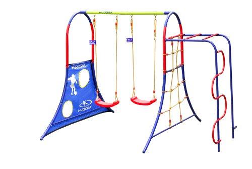 HUDORA Spielplatz für den Garten mit Kinder-Schaukeln &...
