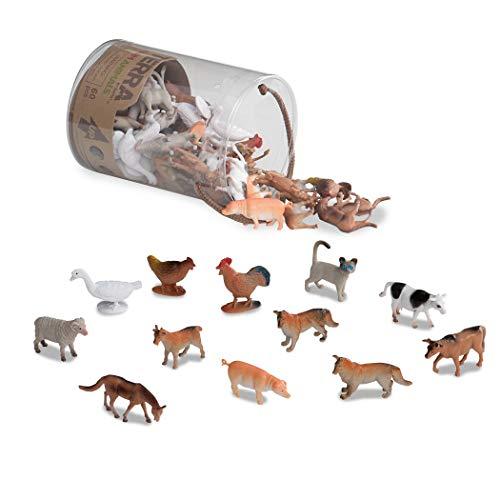 Terra 60-teilig Tierfiguren Sammlung Bauernhof Spielzeug Set –...